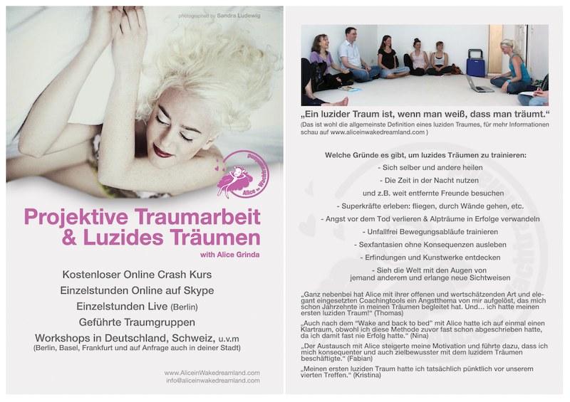 Flyer:Projektive Traumarbeit & luzides Träumen