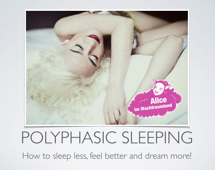 Am 14.Januar findet mein erster Vortrag über polyphasisches Schlafen in Berlin statt.